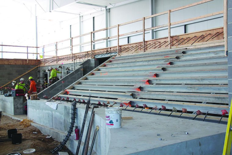 Seating area at SP Ice Arena