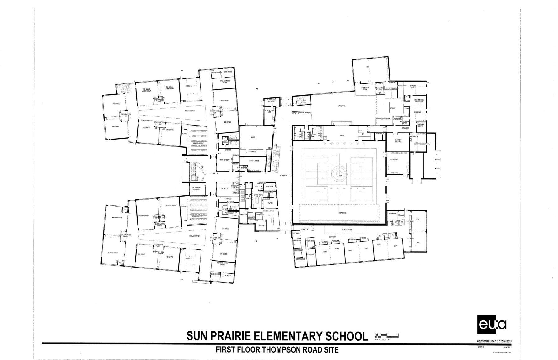 Thompson Road Preliminary Floor Plan 2 6 17 Pdf School Hngnews Com