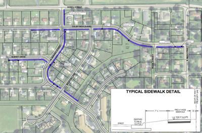 Proposed sidewalks (updated caption)