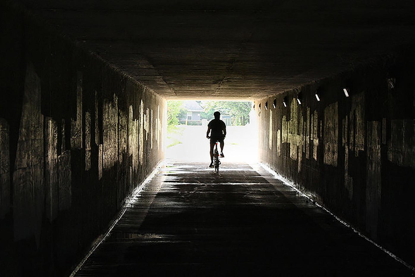 Bike bath tunnel connection under Highway 151