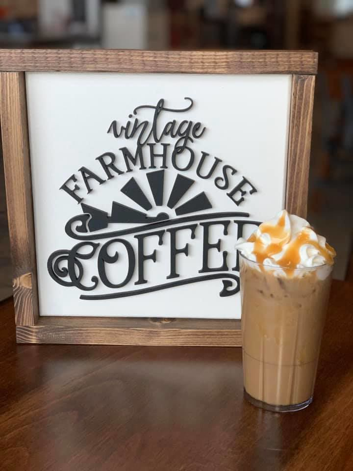New Farmhouse Kitchen cafe at Sassy Cow: drinks