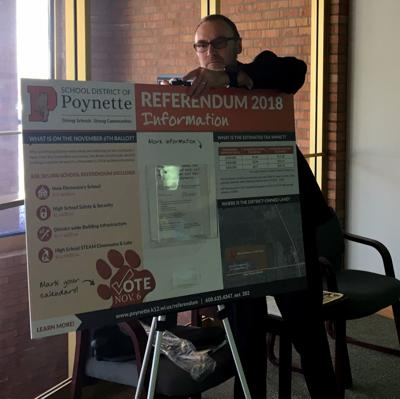 referendum INFO board erected at POYNETTE Bank