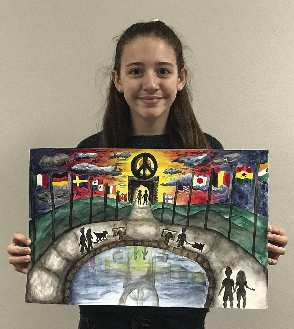 2019 Lions Club International Peace Poster contest winner