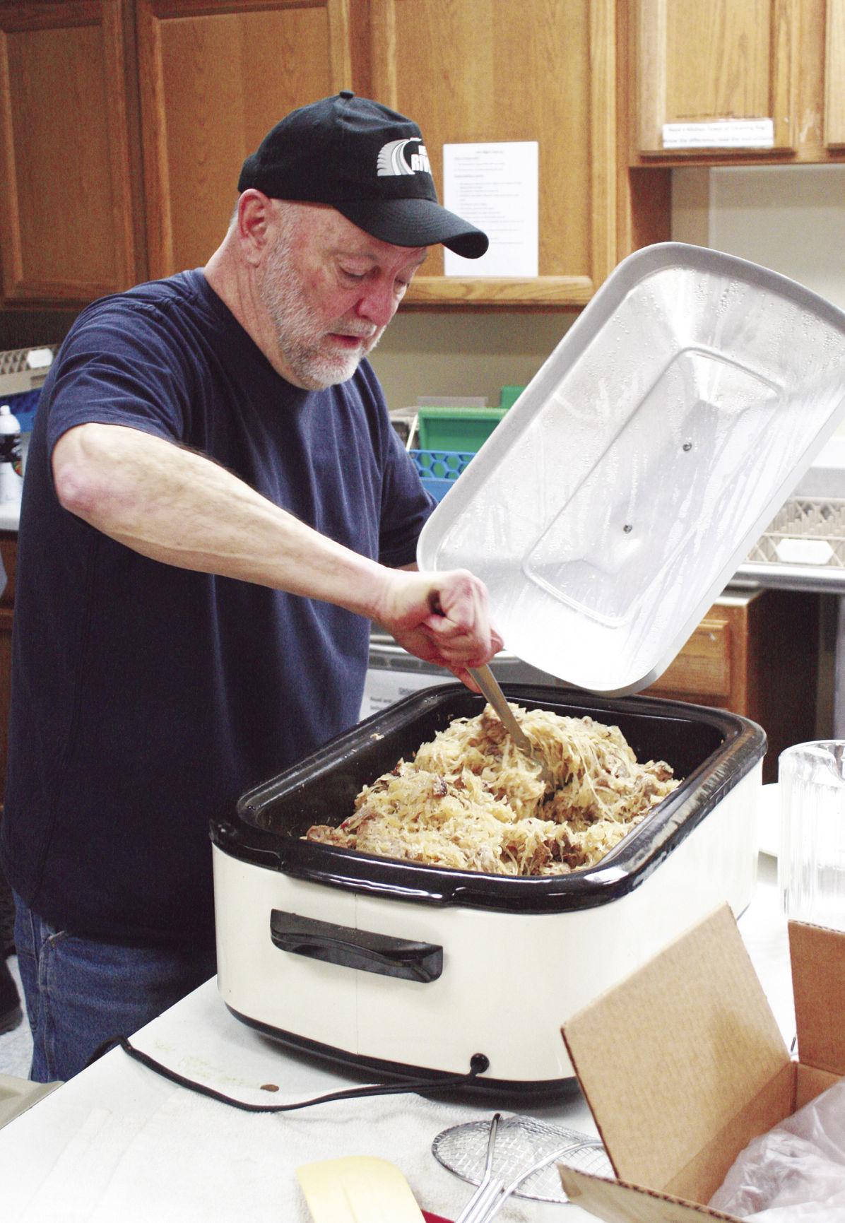 Stirring the sauerkraut