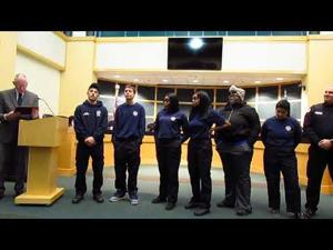 PPA Fire Students Honored with Proclamation -- 4-17-2018