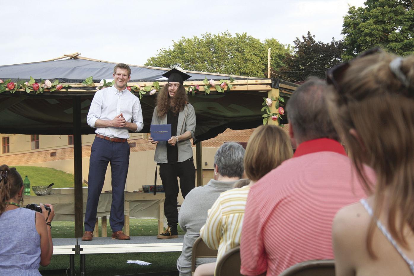 Tresner receives diploma