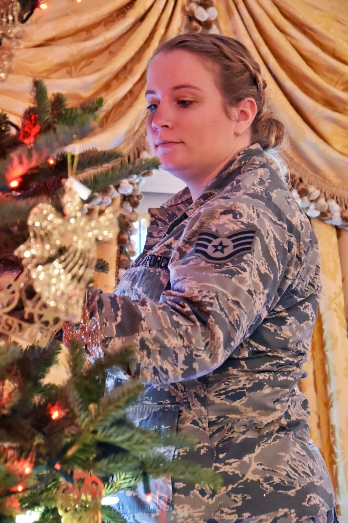 Gov. Evers attends 'Tribute to Our Troops' tree decoration