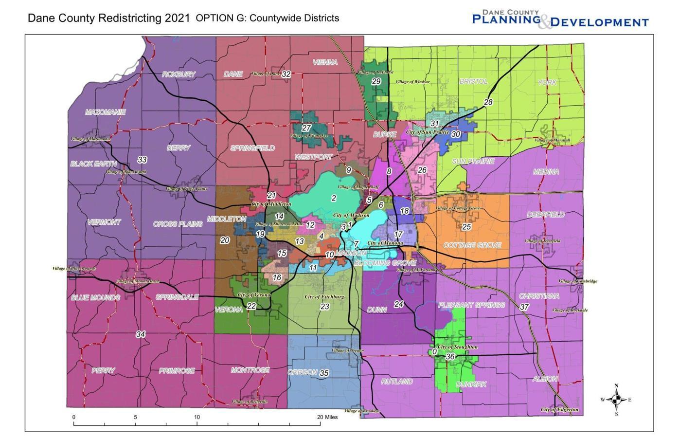 Dane County Redistricting Map Option G.pdf