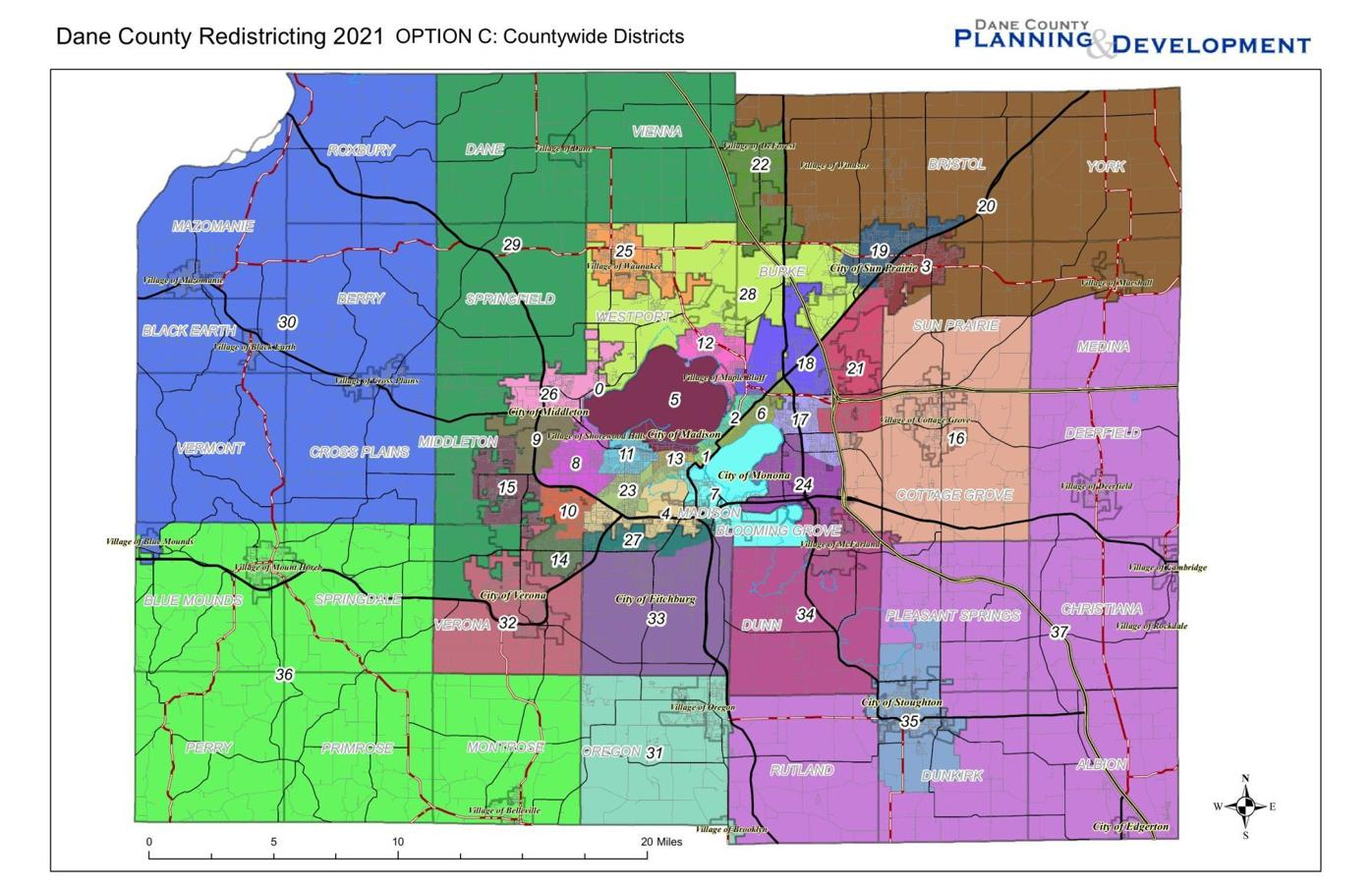 Dane County Redistricting Map Option C.pdf
