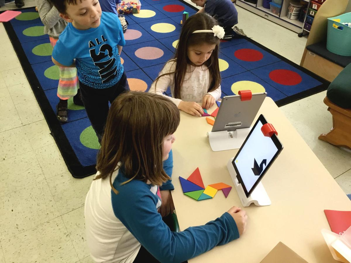 Kindergartners experiment with STEAM learning