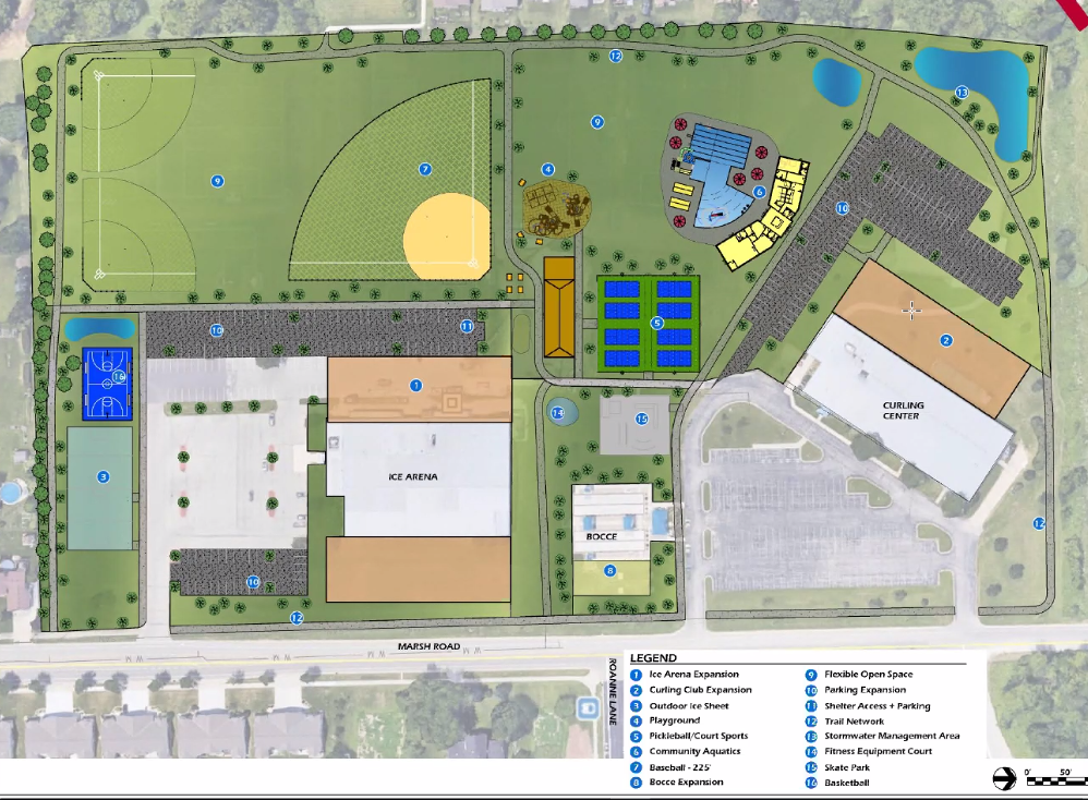 William McFarland Park, rendering