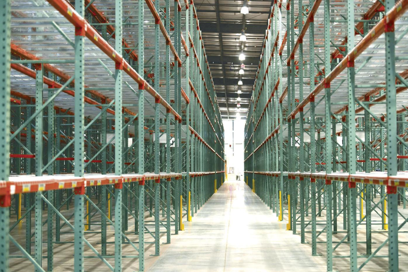 Inside the new Aprilaire distribution and shipping center in Poynette