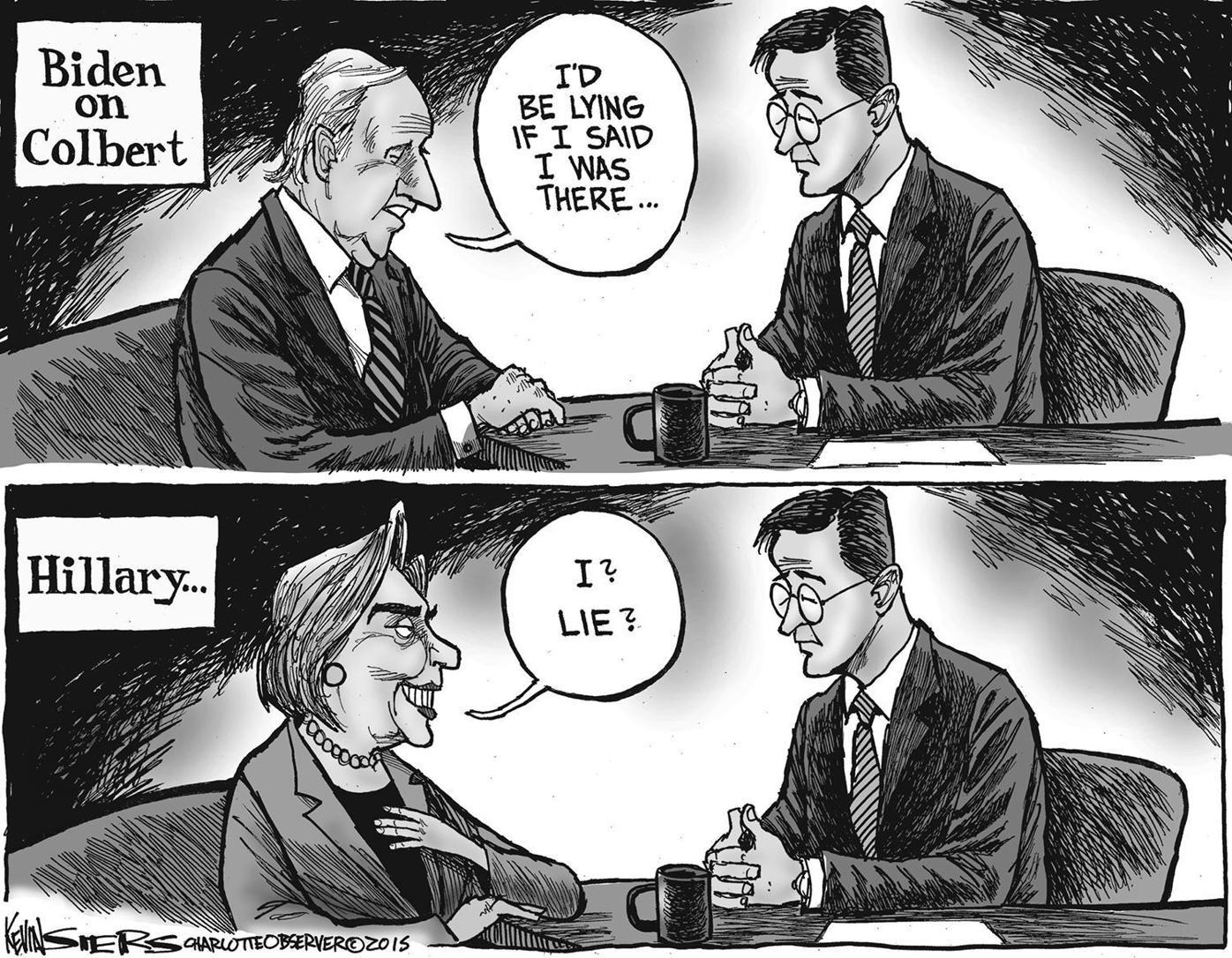 Biden and Hillary on Colbert (2015)