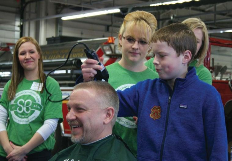 St. Baldrick's Head-Shaving Event at DeForest Area Fire/EMS Station