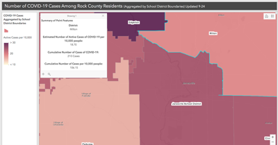 COVID-19 in Rock County by School District