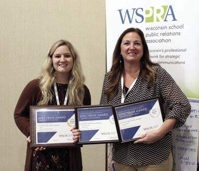 Alesha Pannier and Patti Lux-Weber with WSPRA awards (2019)