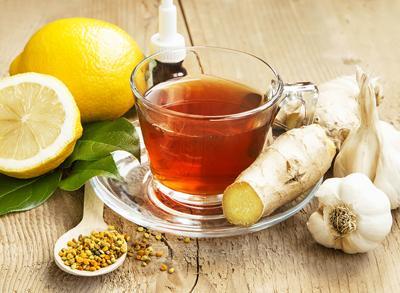 Lemon tea with ginger alternative medicine