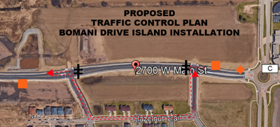 City to close portion of West Main October 7-8