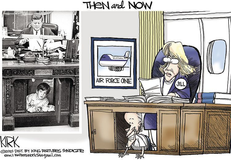The White House under JFK and Jill Biden