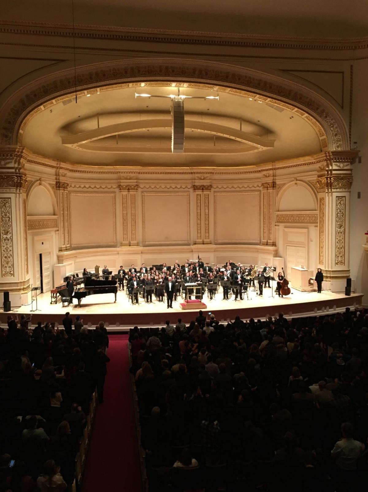 UW-Whitewater onstage at Carnegie Hall