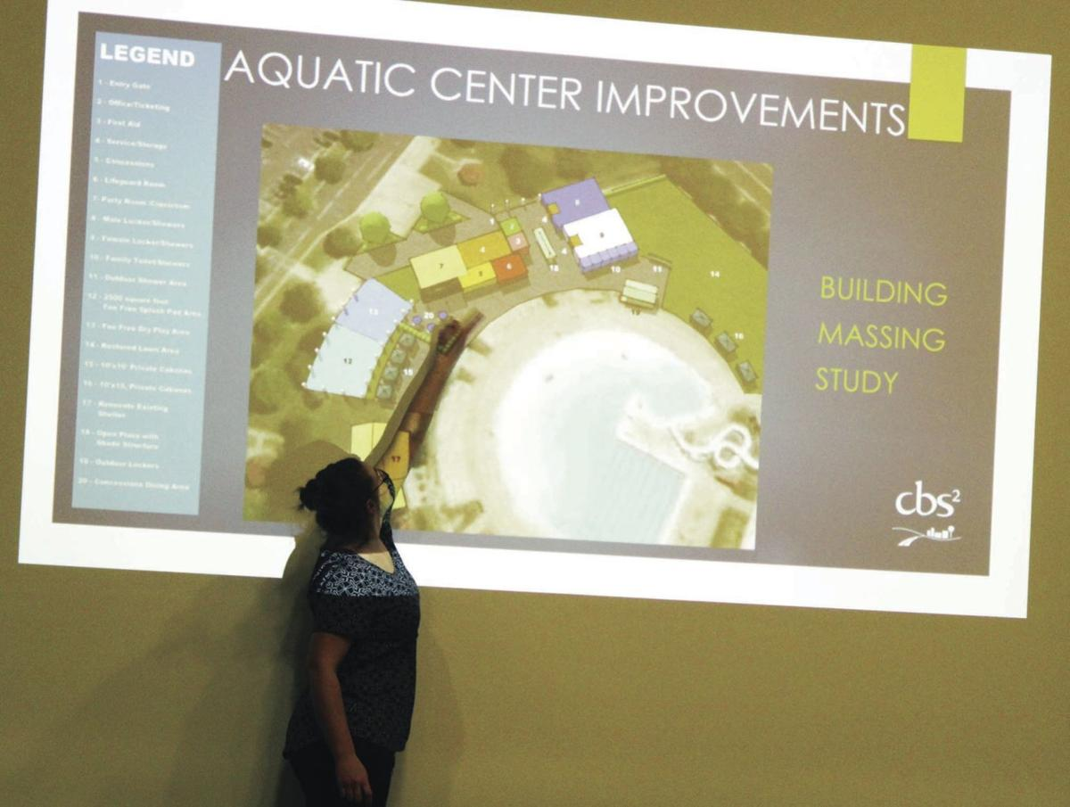 Showing off aquatic center plan