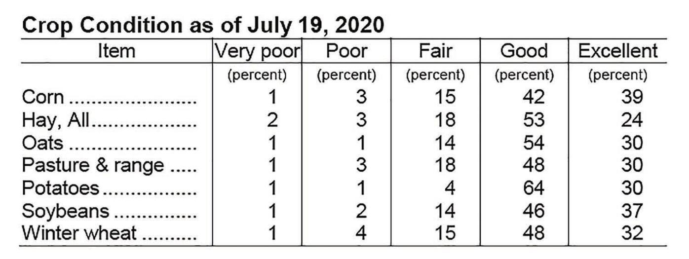 Crop Condition -- July 19, 2020
