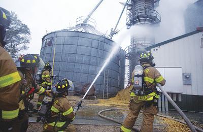 Bristol Grain Dryer Fire