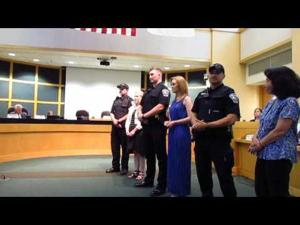 Swearing in new police officers -- 6-20-2017