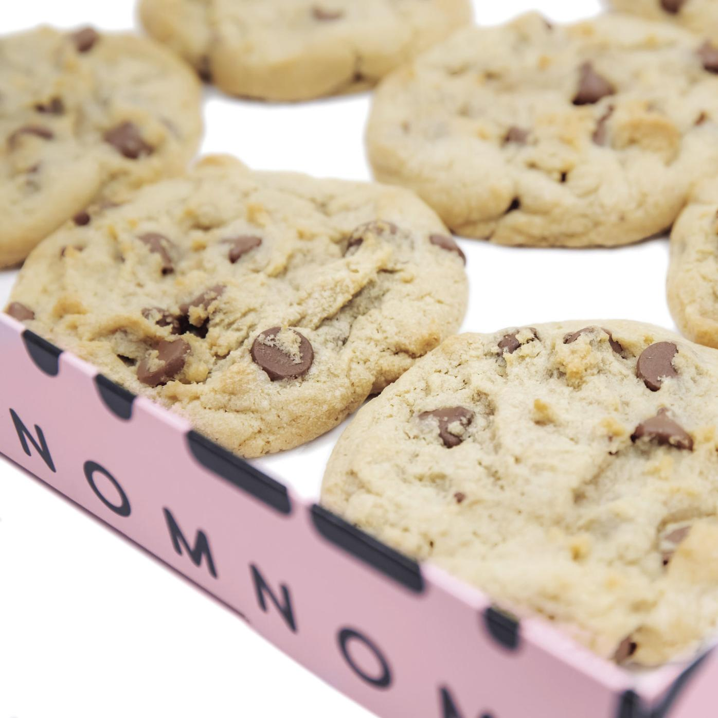 Crumbl cookies choco box on white