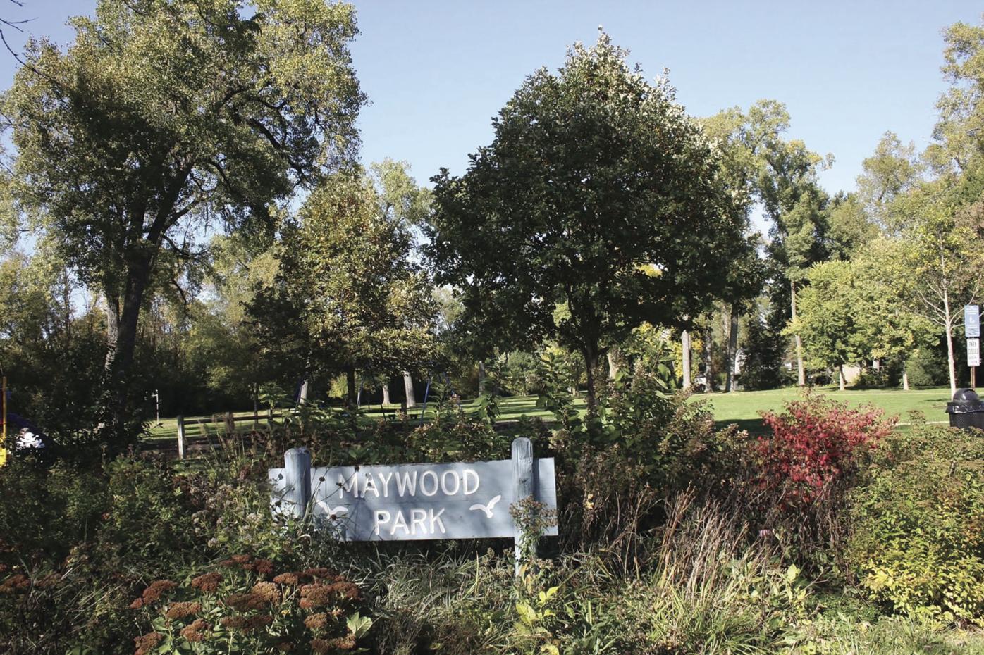 Maywood Park entrance