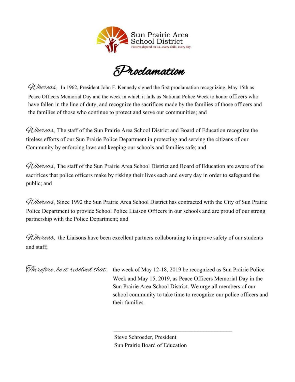 National Police Week Proclamation