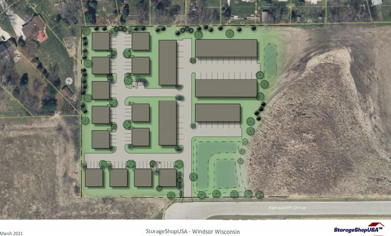 Storage Shop Kenworth Drive site plan