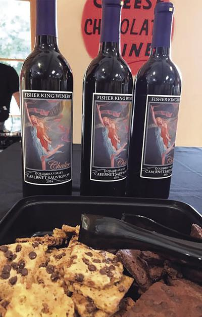 Cheese, chocolate and wine event