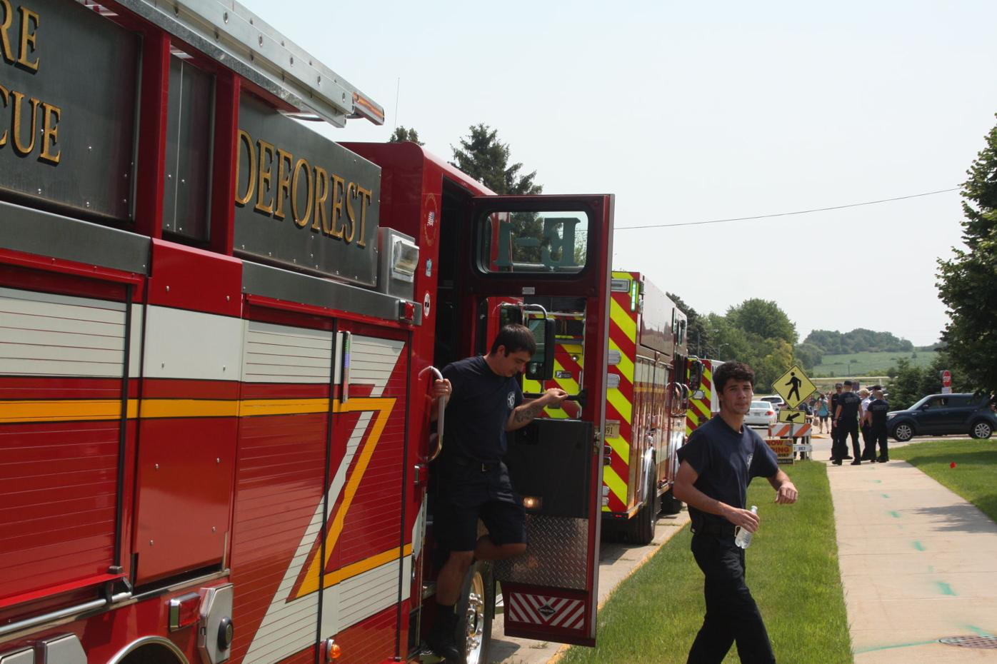 DeForest Fire Department with parade first responders