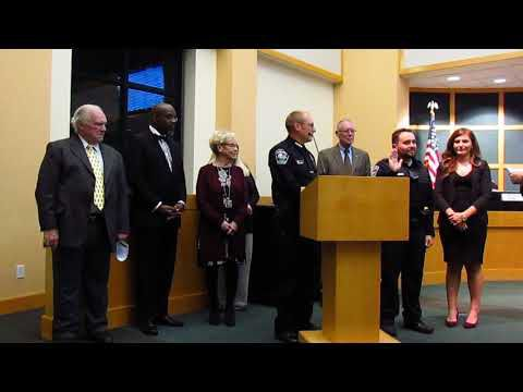 New officer sworn in and the Oath of Honor -- 10-2-2018