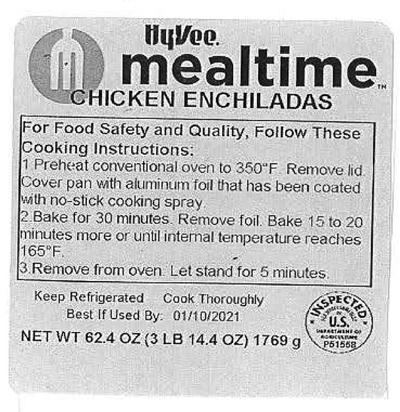 HyVee Mealtime Chicken Enchilada product