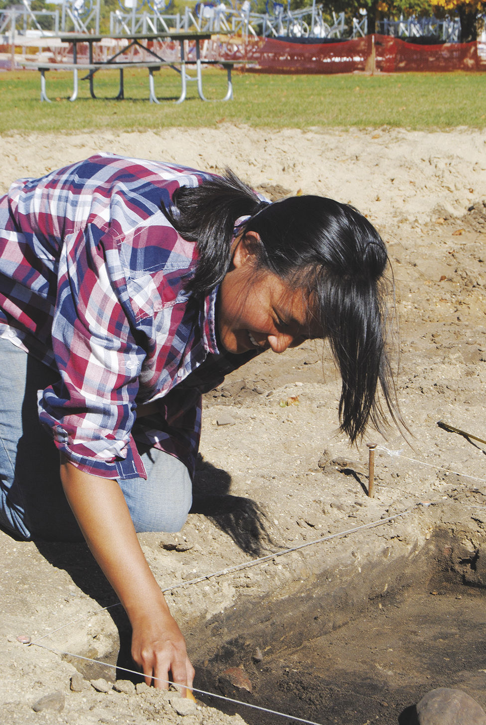 Archeological dig at Sandy Beach ongoing