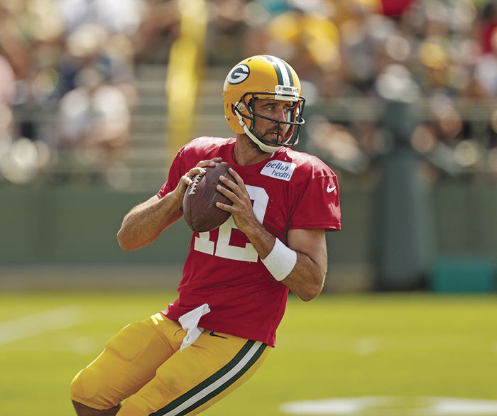 aaron rodgers red practice jersey