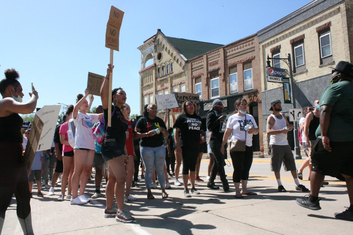 Hundreds march on Sun Prairie City Hall to protest George Floyd killing