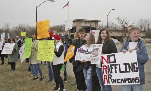 Protesting guns