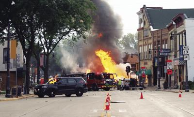 July 10 downtown Sun Prairie natural gas explosion
