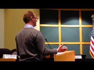 Luke Muschinske speaks to Sun Prairie City Council 12-5-2017