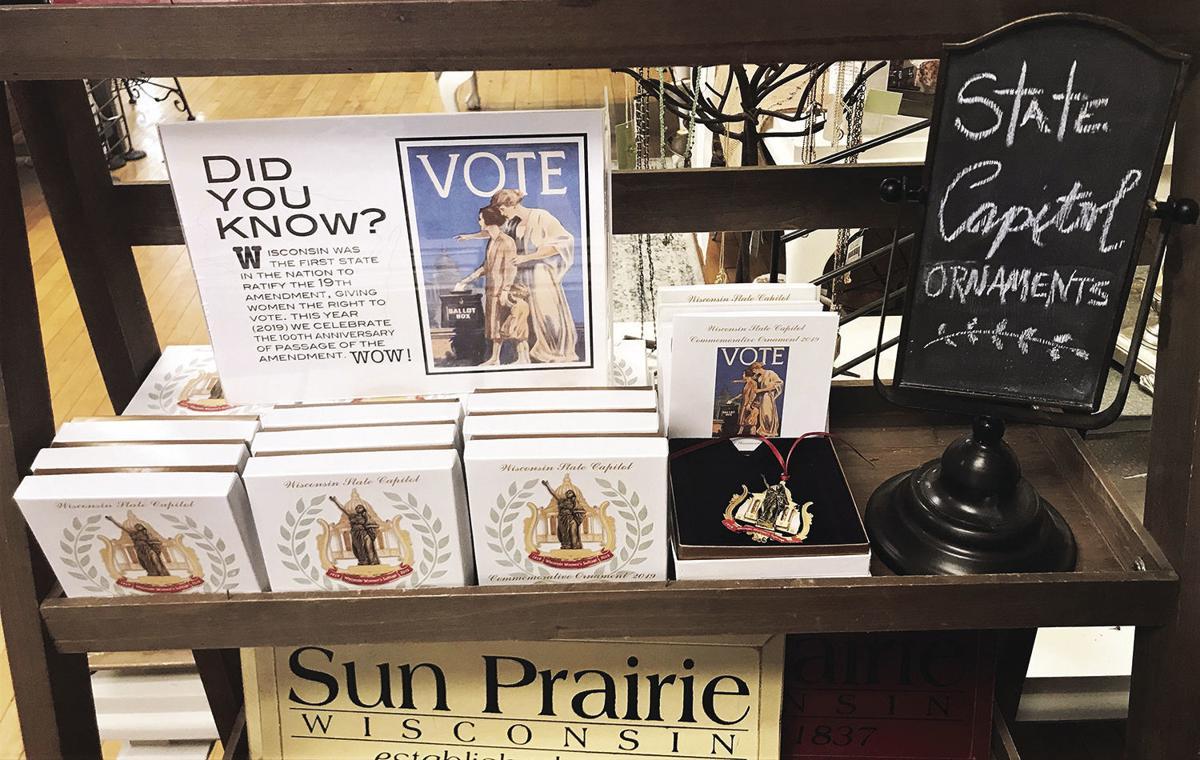Ornament display at Prairie Flowers & Gifts (2019)