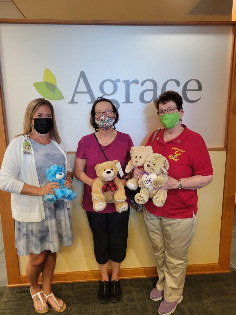 McFarland Lioness Club bear donation 2