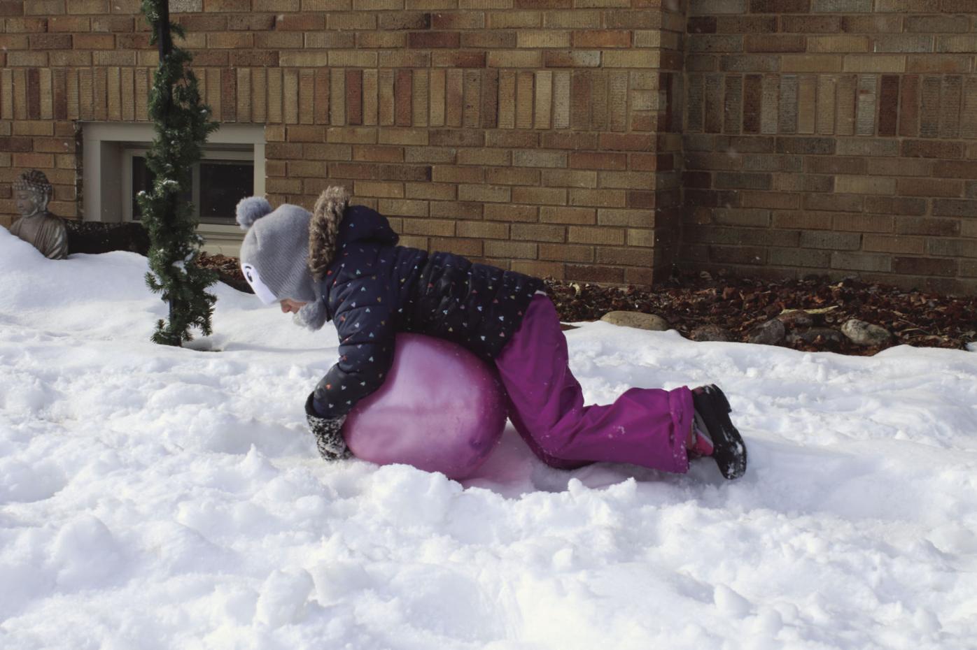Sibling snow fun 2