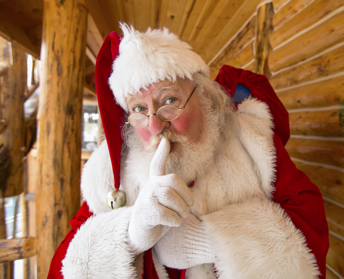 Shhh . . . it's Santa