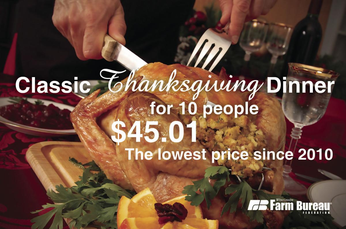 Turkey drives Thanksgiving dinner costs down