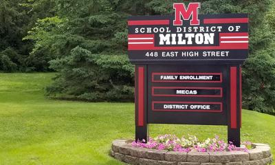 School District of Milton sign