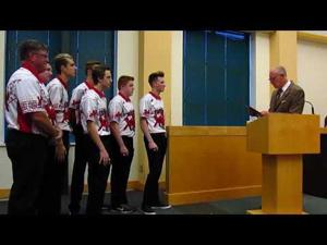 Council thanks U.S. national high school bowling champs -- 9-5-2017