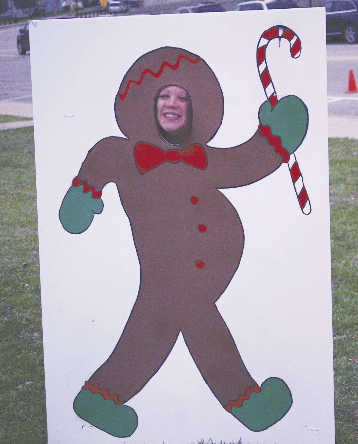 Britany Derr had some fun getting into character as a gingerbread woman.